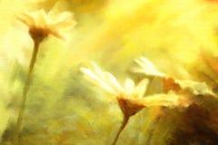 Gänseblümchen blüht Aquarellmalereien lizenzfreie abbildung