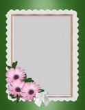 Gänseblümchen-Randhochzeitseinladung Stockbild