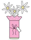 Gänseblümchen-Vase Stockbilder