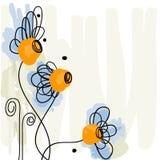 Gänseblümchenhintergrund Lizenzfreie Stockbilder