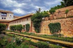 Gärten in Alhambra Stockfotografie