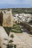 Gärten an der Zitadelle bei Victoria auf Gozo, Malta Lizenzfreies Stockbild