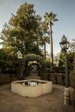 Gärten des Alcazar von Toledo stockfotos