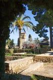 Gärten des Alhambra-Palastes in Granada Lizenzfreies Stockbild