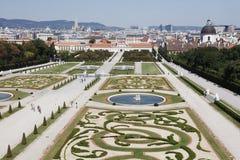 Gärten des Belvedere-Palastes Lizenzfreies Stockfoto