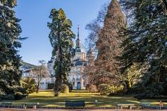 Gärten des königlichen Palastes von La Granja de San Ildefonso konfrontieren Lizenzfreie Stockfotos