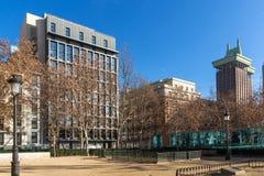 Gärten des Piazza-Landhausdes Paris in der Stadt von Madrid, Spanien lizenzfreie stockfotografie