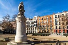 Gärten des Piazza-Landhausdes Paris in der Stadt von Madrid, Spanien lizenzfreies stockbild