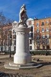 Gärten des Piazza-Landhausdes Paris in der Stadt von Madrid, Spanien lizenzfreie stockbilder