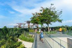 Gärten durch den Bucht-Gehweg lizenzfreies stockbild