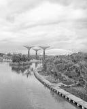 Gärten durch den Schacht, Singapur Stockfoto