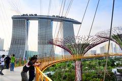 Gärten durch die Bucht in Sinapore Lizenzfreies Stockfoto