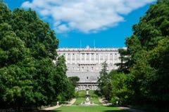 Gärten Royal Palaces von Madrid lizenzfreies stockbild