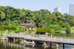 Gärten Tokyos Hamarikyu Stockfotos