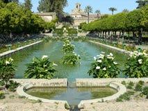 Gärten und Brunnen des Alcazar in Cordoba Lizenzfreie Stockfotos