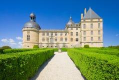 Gärten und Château de Hautefort, Périgord Stockbild