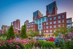 Gärten und der allgemeine Markt Bostons, in Boston, Massachusetts Stockfotos