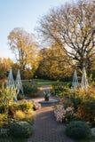 Gärten und Herbstfarbe an den Wellen-Hügel-allgemeinen Gärten, im Bronx, New York City lizenzfreie stockbilder