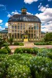 Gärten und Howard Peters Rawlings Conservatory im Druiden Hil lizenzfreie stockbilder