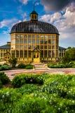 Gärten und Howard Peters Rawlings Conservatory im Druiden Hil lizenzfreie stockfotografie