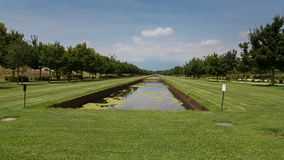 Gärten Venaria Reale, Turin stockbilder