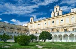 Gärten von Certosa di San Martino Stockbild