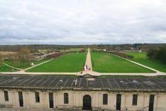 Gärten von Chateau de Chambord stockbild