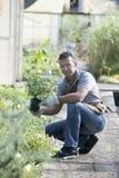 Gärtner bei der Arbeit Stockfotos