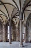 Gäst Hall i Mont Saint Michel Abbey Royaltyfri Bild