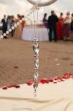 Gäster för mottagande för prydnadbröllopbuffé Royaltyfria Bilder