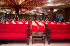 Gästerna vilar och sammanträdeområde Arkivbild