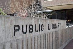 Główna biblioteka publiczna w w centrum Albuquerque Nowym - Mexico obrazy royalty free