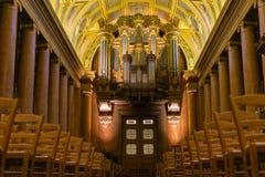 Główny organ przy Katedralny saint pierre, Rennes Francja obrazy royalty free