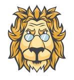 Głowa lew w okularach przeciwsłonecznych ilustracji