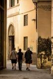 Gå ändå en gränd Florence Royaltyfria Bilder