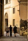 Gå ändå en gränd Florence Arkivbild