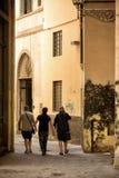 Gå ändå en gränd Florence Royaltyfri Fotografi