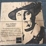 Gå av bög, regnbågehedern går, Jane Addams royaltyfri fotografi