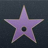 Gå av berömmelsestjärnaillustration Berömt belöningsymbol Prestation av skådespelarekändisen Design för Hollywood vektorframgång  royaltyfri illustrationer