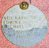 Gå av berömmelsestjärnan av Apollo 11 Royaltyfri Fotografi