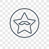 Gå av den linjära symbolen för berömmelsebegreppsvektorn som isoleras på genomskinligt vektor illustrationer