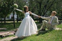 gå bröllop arkivbild