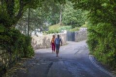 Gå Brixham Torbay Devon Endland UK Royaltyfria Bilder