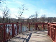 Gå bron över Cumberlandet River 3 royaltyfri fotografi
