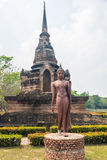 Gå Buddha på Sukhothai Arkivbild