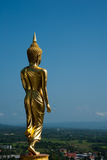 Gå Buddha staty Arkivbilder