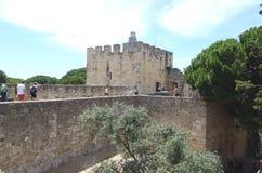 Gå Castelo de São Jorge, Lissabon, Tom Wurl Arkivfoton