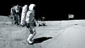 gå för astronautmoon lager videofilmer