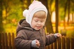 gå för höstbarnpark Royaltyfria Bilder