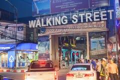 gå för pattaya gata Royaltyfri Fotografi